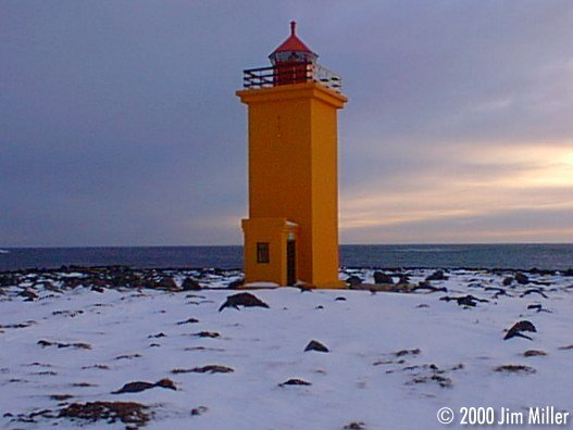 Stafnes Lighthouse Sunset ©1999 Jim Miller - Olympus D-220L